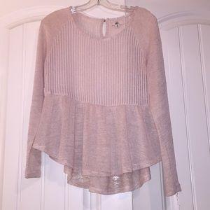 Flirty knit top